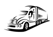 Bewegende vrachtwagen Royalty-vrije Stock Afbeeldingen
