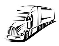 Bewegende vrachtwagen Royalty-vrije Stock Foto's