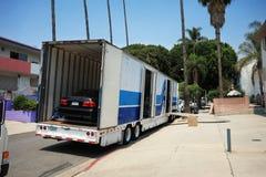 Bewegende vrachtwagen royalty-vrije stock foto