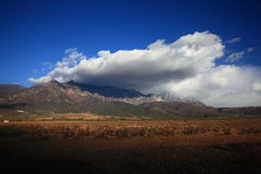 Bewegende wolk Royalty-vrije Stock Foto's