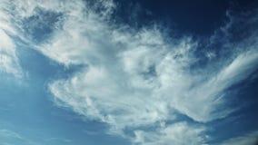 Bewegende wolken en de blauwe tijdspanne van de hemeltijd Royalty-vrije Stock Afbeelding