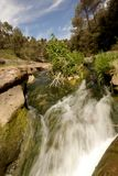 Bewegendes Wasser, Wasserfallnatur lizenzfreie stockbilder