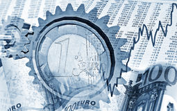 Beweging in de financiële markten Stock Foto's