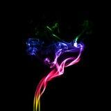 Beweging van kleurrijke rook Stock Foto