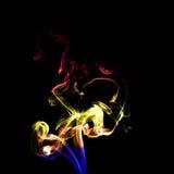 Beweging van kleurrijke rook Royalty-vrije Stock Foto