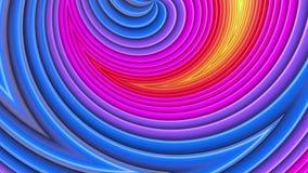 Beweging van regenboog multicolored strepen cyclisch Abstracte 3d naadloze heldere achtergrond in 4k Eenvoudige meetkunde in beel stock videobeelden