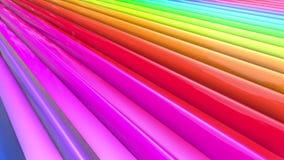 Beweging van regenboog multicolored strepen cyclisch stock footage
