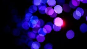 Beweging van vage lichten stock videobeelden