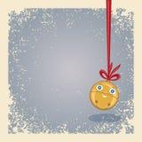 Beweging veroorzakende Kerstmis - hangende gelukkige kenwijsjeklok. Stock Foto's