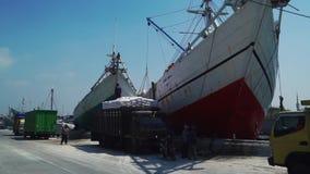 Bewegingsgoederen aan het schip