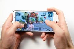 Bewegliche Anwendung und Spiele stockfoto