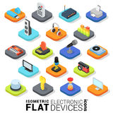 Bewegliche APP-Ikone der flachen isometrischen elektronischen Geräte 3d Stockbilder