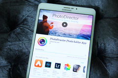 Bewegliche APP Photodirector-Bildeditors Stockfoto