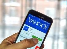 Bewegliche APP Yahoos Stockbilder