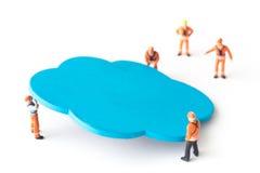 Bewegliche blaue Wolke der Arbeitskraft Stockfotos