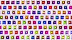 Bewegliche bunte nahtlose Quadrate der Videoschleife vektor abbildung