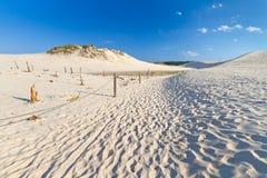 Bewegliche Dünen nähern sich Ostsee in Leba Lizenzfreies Stockfoto