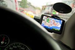 Bewegliche In-Fahrzeug GPS-Navigationsanlage Stockfoto