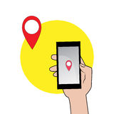 Bewegliche GPS-Navigation Stockbild