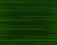 Bewegliche grüne Zahlen Stockbild