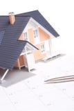 Bewegliche Hausplanung lizenzfreies stockbild