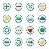 Bewegliche Ikonen des Internet-Netzes mit weißem Hintergrund Lizenzfreies Stockfoto