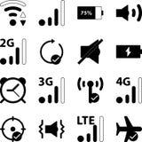 Bewegliche intelligente Telefon-Einstellungs-Vektor-Ikonen-Sammlung Vektor Abbildung
