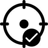Bewegliche intelligente Telefon-Standort-Vektor-Ikone Stock Abbildung
