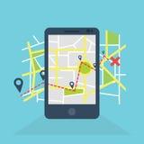 Bewegliche Navigation GPS Lizenzfreie Stockfotografie
