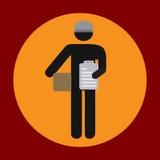 Bewegliche Paketikone in der modischen flachen Art lokalisiert auf grauem Hintergrund Lieferungssymbol für Ihr Design, Logo, UI V Stockbilder