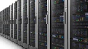 Bewegliche Reihe von Netzwerk-Servern lizenzfreie abbildung