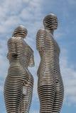 Bewegliche Skulptur 'Ali und Nino 'in Batumi lizenzfreie stockfotos