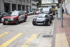 Bewegliche Tätigkeit auf Szene der verkehrsreichen Straße in der Stadt Stockbilder