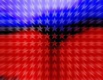 Bewegliche Tapete der roten und blauen Sterne Stockfotografie