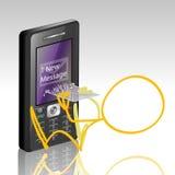 Bewegliche Telefon-Meldung-SMS Stockbild