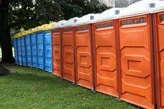 Bewegliche Toiletten Stockfoto