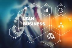 Bewegliche und magere Geschäftsführung stockfoto