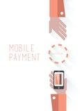 Bewegliche Zahlung mit Text Lizenzfreies Stockfoto