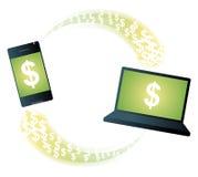Beweglicher Bankverkehr lizenzfreie abbildung