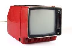 Beweglicher Fernsehapparat der Weinlese Stockbild