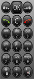 Beweglicher Handytastaturblock Stockfotografie