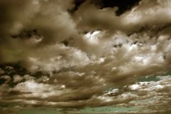 Beweglicher Himmel stockfoto
