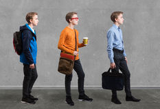 Beweglicher Junge in der unterschiedlichen Art Stockbilder