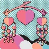 Beweglicher Valentinsgruß Stockbilder