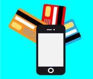 Beweglicher Zahlungsvektor Smartphones Lizenzfreies Stockbild