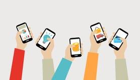 Bewegliches apps Konzept Lizenzfreie Stockfotografie