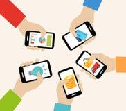 Bewegliches apps Konzept Stockfotografie