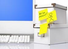 Bewegliches Büro Stockfoto