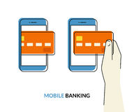 Bewegliches Bankwesen Lizenzfreies Stockfoto