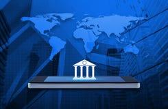 Bewegliches Bankwesenkonzept, Elemente dieses Bildes geliefert von der NASA Lizenzfreie Stockfotografie
